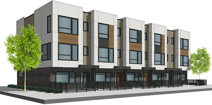 ALW townhomes rendering