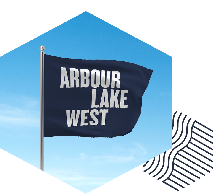 Arbour Lake West flag